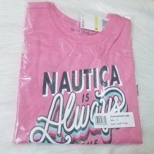 Nautica Soft Pink Graphic T-shirt